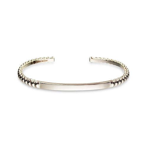 Beaded Cuff Bracelet in Gold