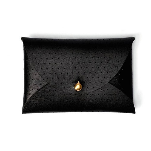 Leather Wallet Pouch in Black