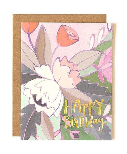 Floral Foil Birthday Card