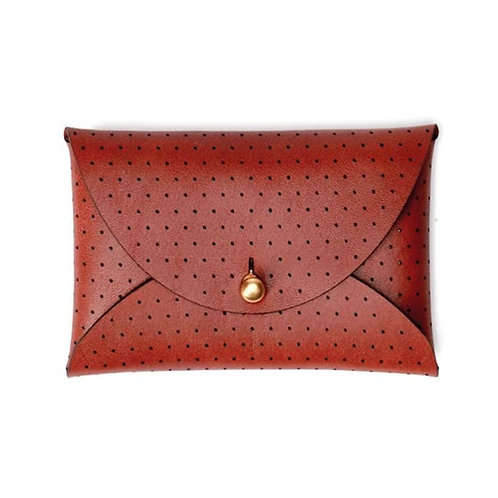 Leather Wallet Pouch in Brown