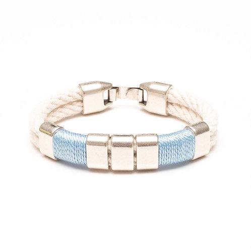 Braddock Bracelet - Ivory/Light Blue/Silver