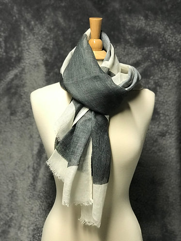Linen scarf works great as a scarf or shawl. 100% linen.