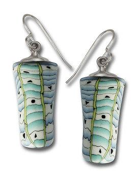 Handmade porcelain earrings jewelry