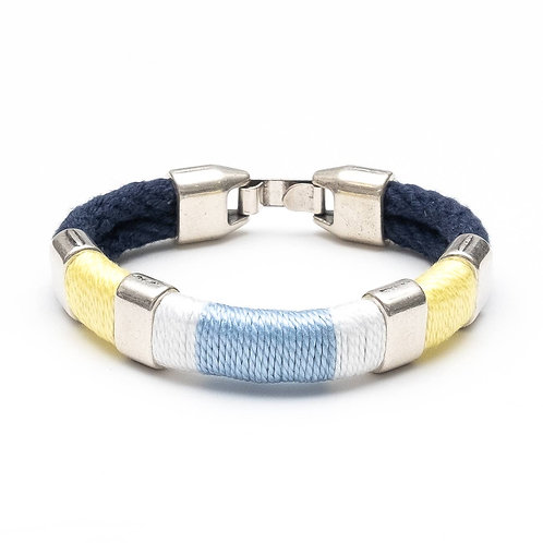 Newbury Bracelet - Navy/Yellow/Blue/Silver