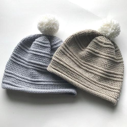 Merino Pom Hat