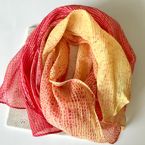 Silk and cotton scarf in two-toned design.