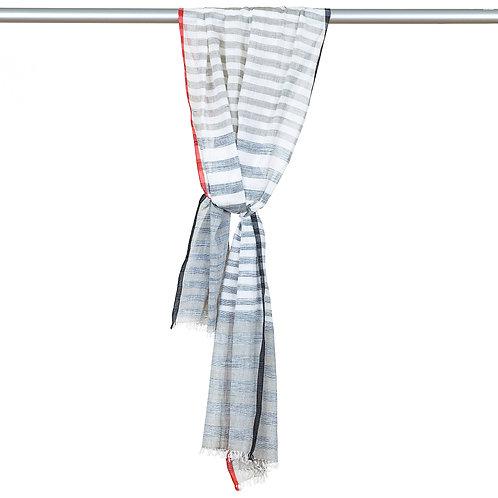 Multi-Stripe Cotton Scarf