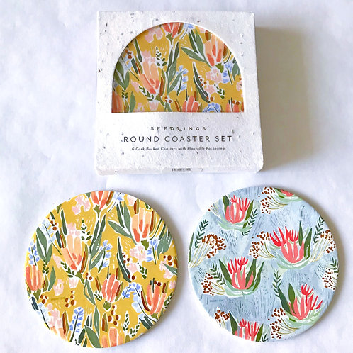 Happy Florals Coaster Set