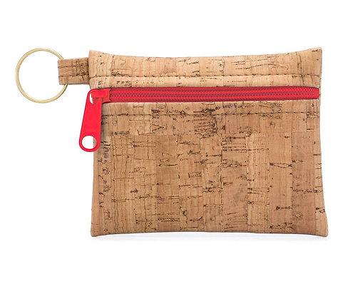Be Organized Key Chain w/Red Zipper