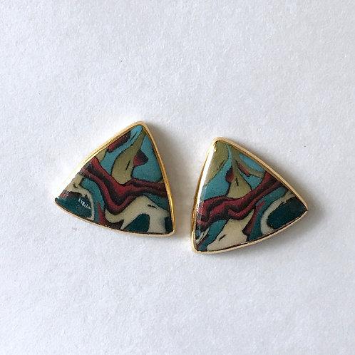 Rainforest Button Earring