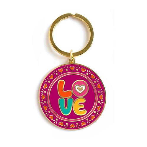 Love Enamel Keychain