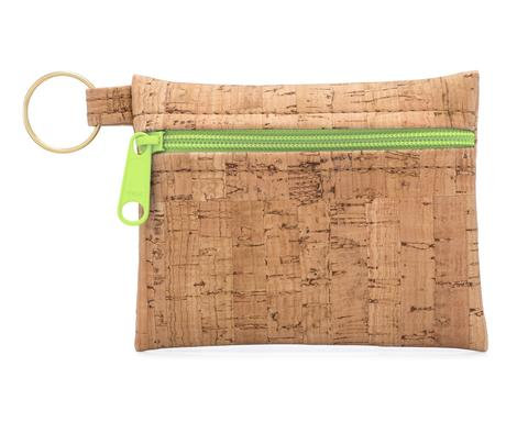 Be Organized Key Chain w/Apple Green Zipper