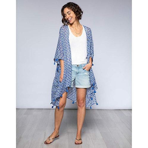 Surf Blue Cotton Kimono