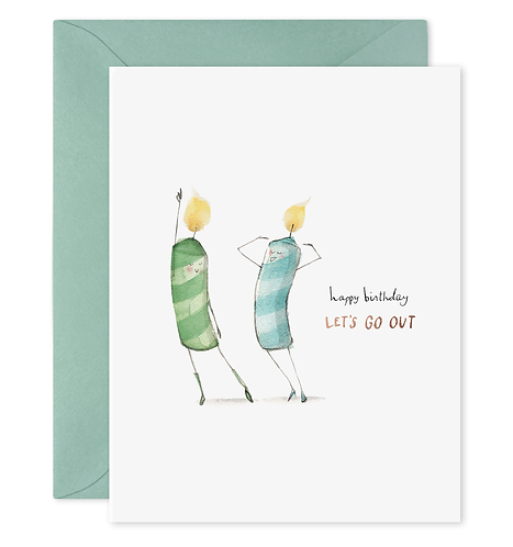 Let's Go Out Birthday Card