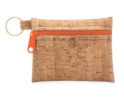 Be Organized Key Chain w/Orange Zipper