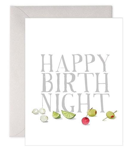 Happy Birth Night Card