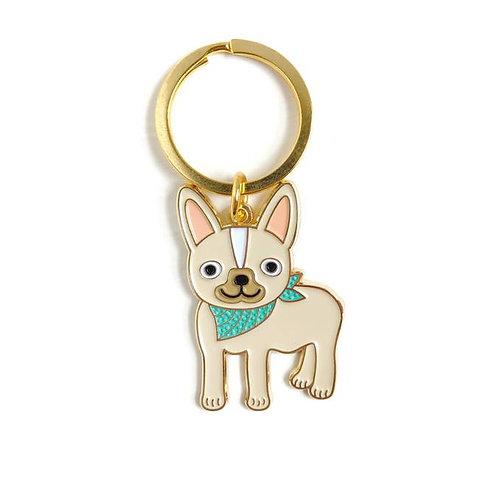 French Bulldog Enamel Keychain