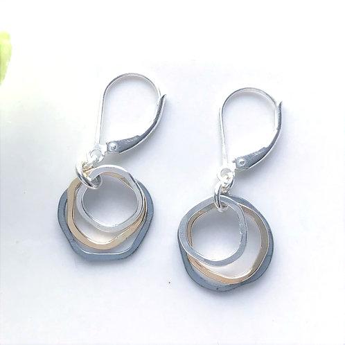Mixed Metals Mini Caldera Earrings