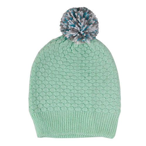 Quilted Pom Hat