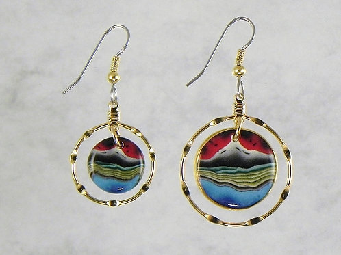 Volcano Hoop Earrings