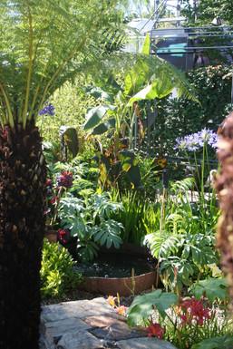 Views across the garden invite you in