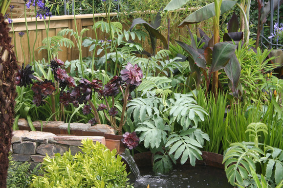 Layered planting keeps interest throughout the year
