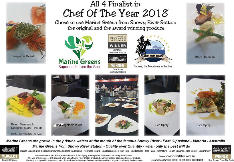 Chef of the Year Australia 2018