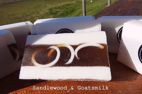 Sandlewood and Goatsmilk Luxury Handmade Soap