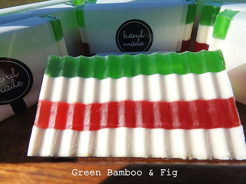 Green Bamboo & Fig Luxury Handmade Soap