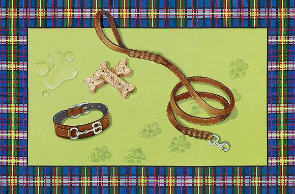 """""""Classic Canine"""" © Dog Bowl Mat"""