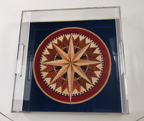"""""""Compass Rose North"""" © Lucite Tray"""