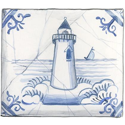 """Delft""© Lighthouse Coaster (set of 2)"