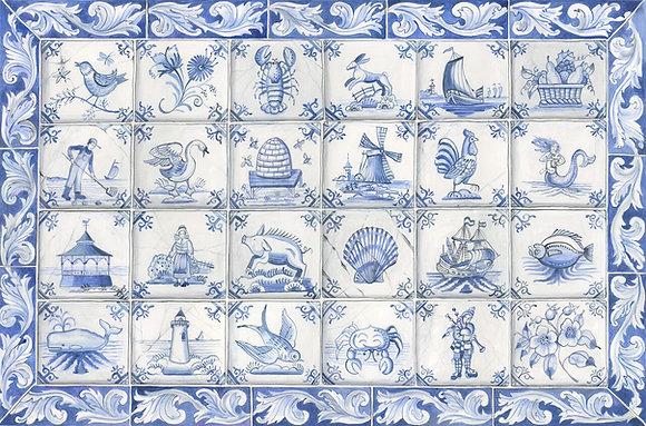 """Delft"" © Rectangular Placemats"