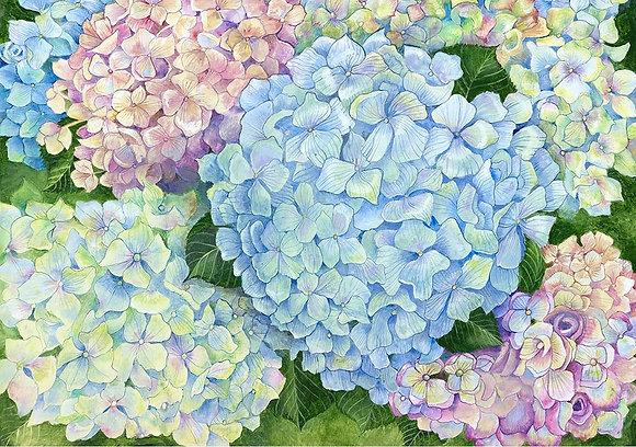 """""""Hydrangea"""" © Floor Mat"""