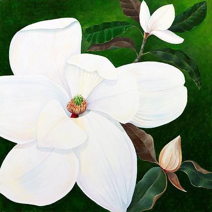 """""""Magnolia"""" © Square Glass Cutting Board"""