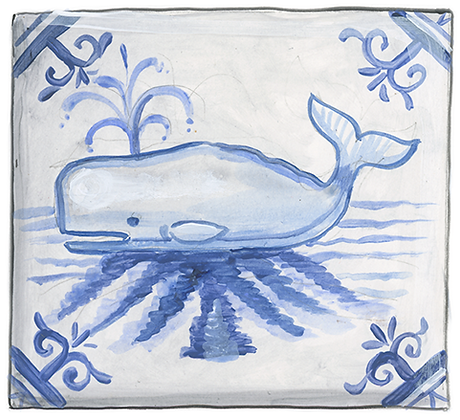 """Whale""© Coaster (set of 2)"