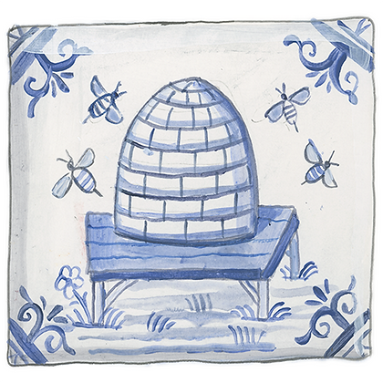 """Delft""© Beehive Coaster (set of 2)"