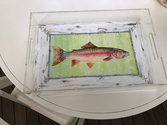 """Trout"" © Lucite Tray"