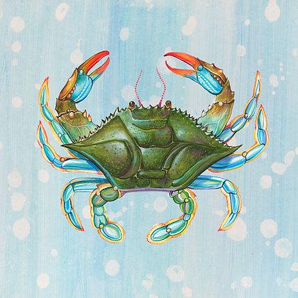 """Crab"" © Square Glass Cutting Board"