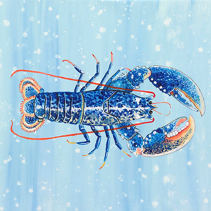 """Lobster"" © Square Glass Cutting Board"
