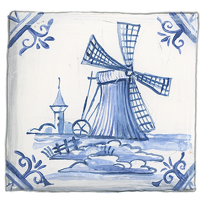 """Delft""© Windmill Coaster (set of 2)"