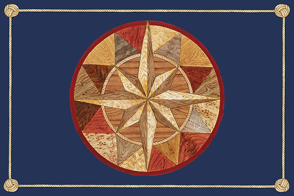 """Compass Rose South"" © Floor Mat"