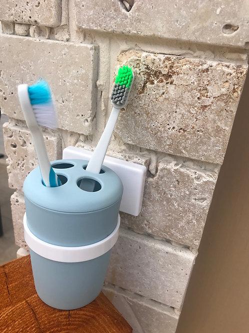 מעמד למברשת השיניים ללא קידוח