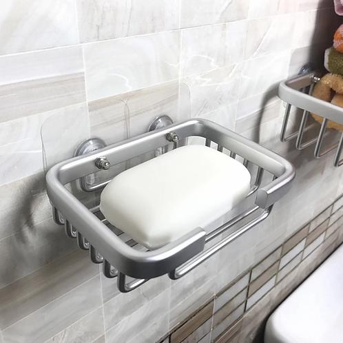 מעמד אלומיניום לסבון מוצק ללא קידוח