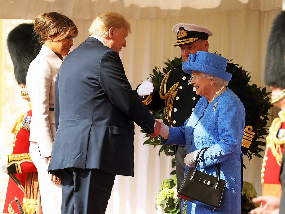 President Donald Trump and First Lady Melania Trump meet with Queen Elizabeth II at Windsor Castle - July 13 2018