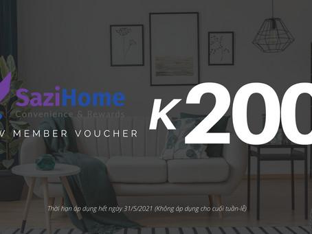Tặng Voucher 200K cho khách thuê Homestay
