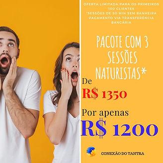 PACOTE 3 SESSÕES CONEXÃO DO TANTRA