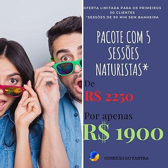 PACOTE 5 SESSÕES CONEXAO DO TANTRA