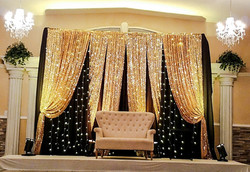 Harjin wedding gold and black