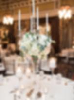 Silver candelabra centerpiece wedding rental Nashville